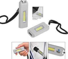 Aufladbare LED Leuchte Eco USB Light 70 L als Werbeartikel