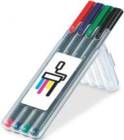 STAEDTLER triplus roller, Box mit 4 Stiften als Werbeartikel