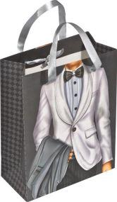 Geschenktüte Mann/Frau mit Steinchen als Werbeartikel