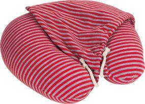 Nackenkissen mit Haube 2-farbig als Werbeartikel als Werbeartikel