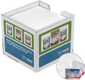 Zettelbox, doppelwandig als Werbeartikel