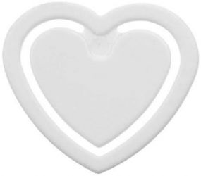 Zettelklammer Herzform mini als Werbeartikel
