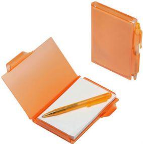Notizbuch mit Druckkugelschreiber als Werbeartikel