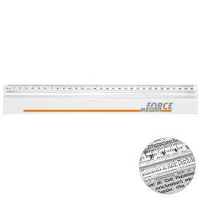 Lineal mit Zeilen-Lupe als Werbeartikel