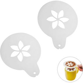 "Cappuccino-Schablone ""Blume"" als Werbeartikel"