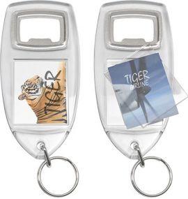 Flaschenöffner mit Schlüsselring als Werbeartikel