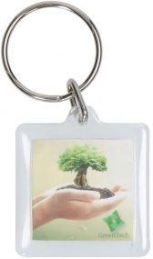 Schlüsselanhänger Inlay 45 x 40 als Werbeartikel