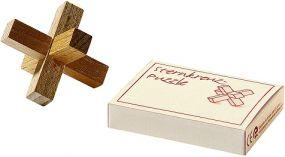 Knobelspiel Holz-Sternkreuz als Werbeartikel