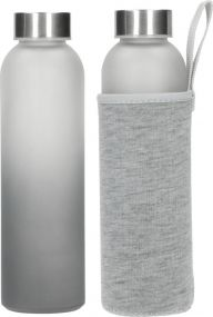 Glasflasche Iced mit Hülle 0,5 l als Werbeartikel