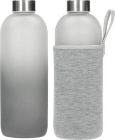 Glasflasche Iced mit Hülle 1,0 l als Werbeartikel