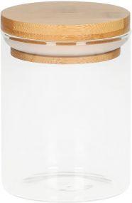 Glasbehälter Bamboo, 0,35 l als Werbeartikel