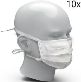 Behelfsmundschutz aus FFP2-Vlies, 10er Set als Werbeartikel
