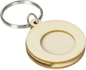 Holzchip-Schlüsselanhänger Circle als Werbeartikel
