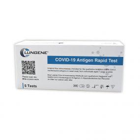 Clungene COVID-19 Antigen Schnelltest 5er Pack - Schnelltest für Laien - Privatanwendung als Werbeartikel