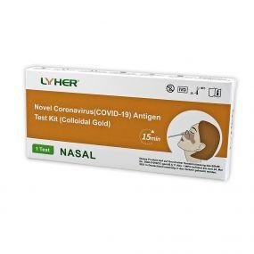 LYHER® Covid-19 Antigen Schnelltest (Nasal) – 1 Stück als Werbeartikel