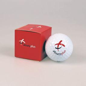 1er Golfball Verpackung, außen individuell gestaltet als Werbeartikel