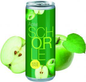 Apfelschorle still in der Dose, Body Label (pfandfrei) als Werbeartikel