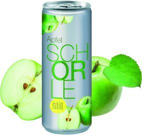 Apfelschorle still in der Dose, No Label Look (Alu Look) (pfandfrei) als Werbeartikel