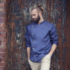 Kochjacke Jeans-Style als Werbeartikel