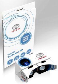 VR-Brille aus Kartoncover inkl. Werbedruck als Werbeartikel