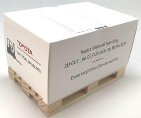 Kartoncover-Box mit Z-type inkl. Werbedruck als Werbeartikel
