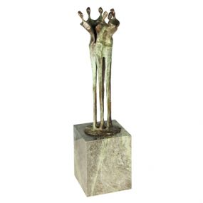 Skulptur Schulter an Schulter als Werbeartikel