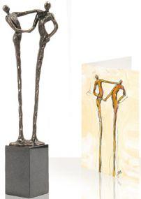 Skulptur Der Händedruck als Werbeartikel