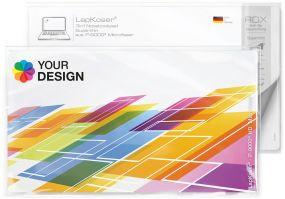 LapKoser® 3in1 Notebookpad 28x16 cm im Polybeutel mit Standardkarte als Werbeartikel