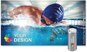 ActiveTowel® Sports Microfaser-Sporthandtuch 130 x 70 cm in der Dose individuell als Werbeartikel