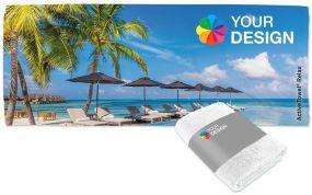 ActiveTowel® Relax Wohlfühl-Handtuch 180 x 70 cm mit individueller Banderole als Werbeartikel