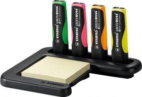 Stabilo GREEN BOSS 4er Tisch-Set Leuchtmarkierer als Werbeartikel