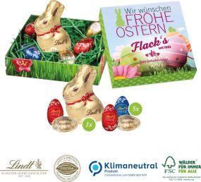 Osternest mit Schokolade von Lindt als Werbeartikel