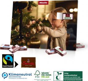 Tisch-Adventskalender mit Fairtrade-Kakao als Werbeartikel