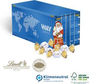 Präsent Weihnachts-Container als Werbeartikel