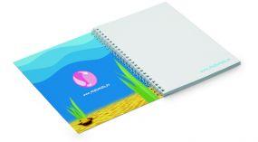 Spiralnotizbuch im Softcover A5 (College block) als Werbeartikel