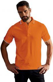 Promodoro Herren Poloshirt mit Kontraststreifen
