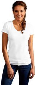 Promodoro Damen T-Shirt Slim Fit mit V-Ausschnitt als Werbeartikel