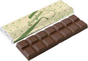 Schokoladentafel 75g mit Recycling Verpackung als Werbeartikel
