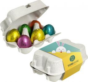 Eierschachtel Ostereier als Werbeartikel