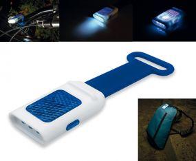 Reflex-Lampe See 4 LED mit Silikongrip als Werbeartikel