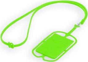 TRUMEN Silikon-Halsschnur mit Telefonalter und Tasche für Karte als Werbeartikel