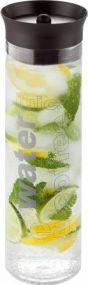 Wasserkaraffe Pure Aqua Silikondeckel Metmaxx als Werbeartikel