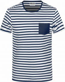 Herren T-Shirt in maritimem Look mit Brusttasche