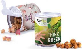 Papierdose Fresh Mini, Pretzel Balls als Werbeartikel
