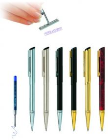 Schreibgerät mit Stempel Diagonal als Werbeartikel