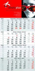4-Monatswandkalender mit individuell bedrucktem Kopfteil 4/0-farbig als Werbeartikel