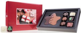 Schokoladen Xmas Choco Postcard Midi als Werbeartikel