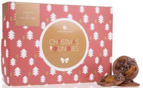 Schokolade Xmas Roundies Rosinen & Kakao als Werbeartikel