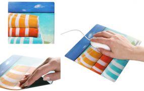 Mousepad Form Quadra, Oberfläche Standard als Werbeartikel