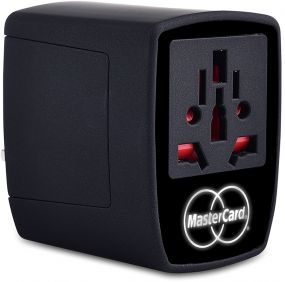 Reisestecker LED WORLD-Travel Adapter als Werbeartikel